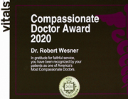 Robert Wesner MD Iowa City 2020 Compassionate Doctor Award